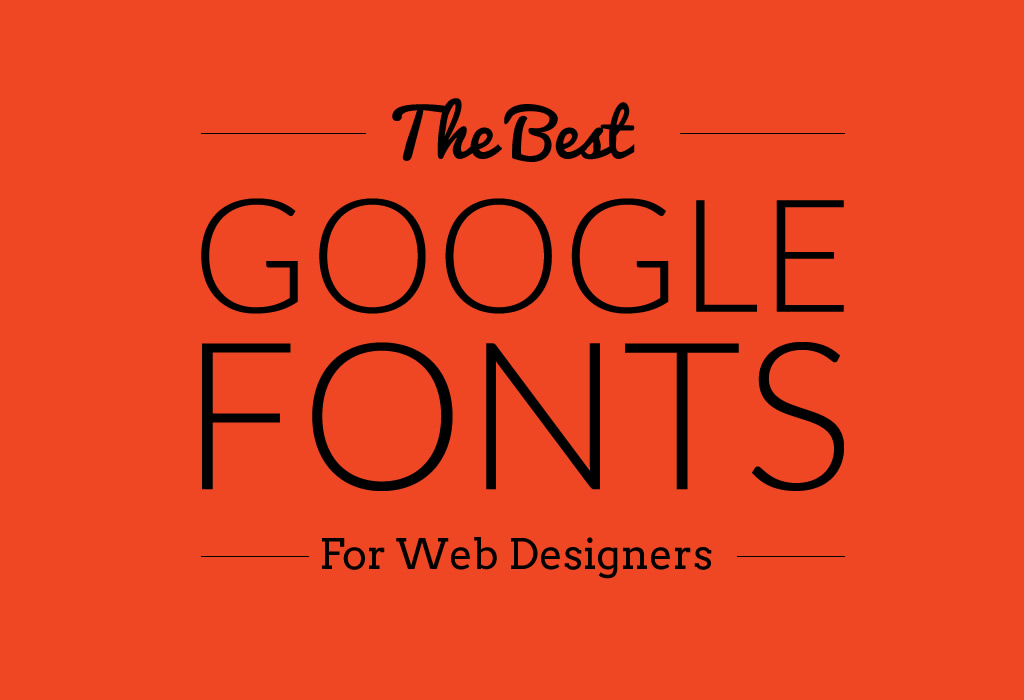 the best google fonts