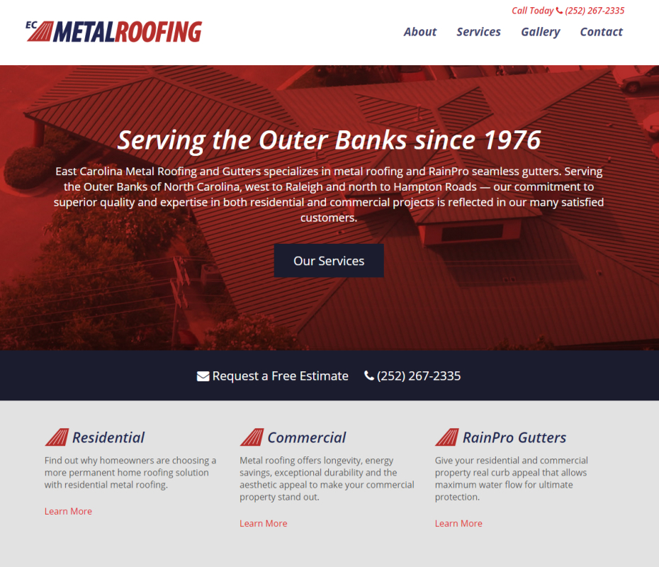 obx metal roofing full